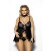 Kép 1/2 - Anais Fripa fekete babydoll plus size 5XL/6XL EAN: 5901350517581