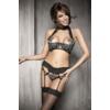 Kép 1/2 - ANAIS Pleasure black-turquoise set L EAN: 5908261618017