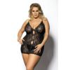 Kép 1/2 - Anais Ymare fekete hálóing plus size XXL+  5XL-6XL EAN: 5901350513095