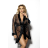 Kép 1/2 - ANAIS Maerin fekete köntös 3XL/4XL EAN: 5901350517543