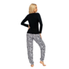 Kép 2/2 - Donna hálóruházat - Bonnie fekete pizsama 44 A/W21-22
