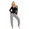 Kép 1/2 - Donna hálóruházat - Bonnie fekete pizsama 44 A/W21-22