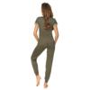Kép 2/2 - Donna hálóruházat - Demi khaki hosszú pizsama 44    A/W21-22