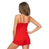 Kép 2/2 - Donna hálóruházat - Kelly 1/2 piros rövid pizsama 36   A/W21-22