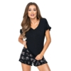 Kép 1/2 - Donna hálóruházat - Mika 1/2 fekete rövid pizsama 40   A/W21-22