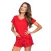 Kép 1/2 - Donna hálóruházat - Mika 1/2 piros rövid pizsama 42    A/W21-22