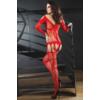 Kép 2/3 - LC17196 LivCo Corsetti Corra bodystocking red S/L EAN: 5907996385362