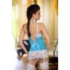 Kép 2/2 - BN6293 Beauty Night Shirley chemise light blue S/M EAN: 5907623205124