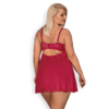 Kép 2/2 - OB4151 OBSESSIVE Rosalyne babydoll & thong red XXL red EAN: 5901688224151