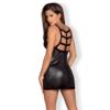 Kép 2/2 - OB5318  Leatheria chemise & thong black  S/M EAN: 5901688225318