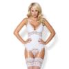 Kép 1/2 - OB3971  810-COR-2 corset & thong white  S/M EAN: 5901688213971