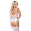 Kép 2/2 - OB3971  810-COR-2 corset & thong white  S/M EAN: 5901688213971