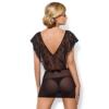 Kép 2/2 - OB3230 OBSESSIVE Merossa chemise & thong L/XL black EAN: 5901688213230