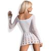 Kép 2/2 - OB2708 OBSESSIVE Rocker dress white S/M/L EAN: 5901688202708