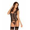 Kép 1/2 - OB9460  Meshlove corset & thong L/XL EAN: 5901688229460