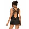 Kép 2/2 - OB0459 Alifini chemise & thong black S/M    EAN:5901688230459