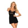 Kép 1/2 - OB0923 OBSESSIVE Sharlotte chemise & thong black S/M   EAN:5901688230923