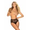 Kép 2/3 - OB0916 OBSESSIVE Sharlotte panties black L/XL  EAN:5901688230916