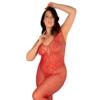 Kép 1/2 - OB3030 OBSESSIVE N112 Bodystocking, piros, nyitott XL/XXL   EAN:5901688233030