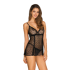 Kép 1/3 - OB1890  Astralya chemise & thong black S/M    EAN:5901688231890