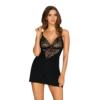 Kép 1/2 - OB2286 OBSESSIVE Cecilla chemise & thong black L/XL    EAN:5901688232286