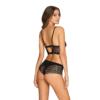 Kép 2/2 - OB2262 OBSESSIVE Cecilla top & shorties black XXL    EAN:5901688232262