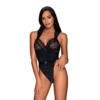 Kép 1/2 - OB2460 OBSESSIVE Elisetta teddy black L/XL   EAN:5901688232460