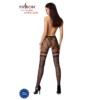 Kép 2/3 - Passion S015 garterstocking fekete S/M/L     EAN:5908305948759