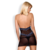 Kép 2/2 - OB4794 OBSESSIVE 844-CHE-1 chemise & thong  S/M black EAN: 5901688214794