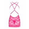 Kép 4/5 - OB7466 OBSESSIVE 860-CHE-5 chemise & thong L/XL pink EAN: 5901688227466