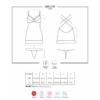 Kép 5/5 - OB7466 OBSESSIVE 860-CHE-5 chemise & thong L/XL pink EAN: 5901688227466