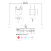 Kép 3/3 - OB9669 OBSESSIVE 868-COR-1 corset & thong  S/M black EAN: 5901688219669