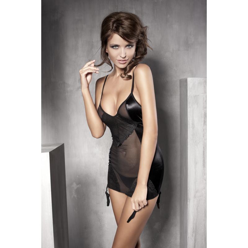ANAIS Affection black setarinera L / hálóing + tanga / EAN: 5908261618727