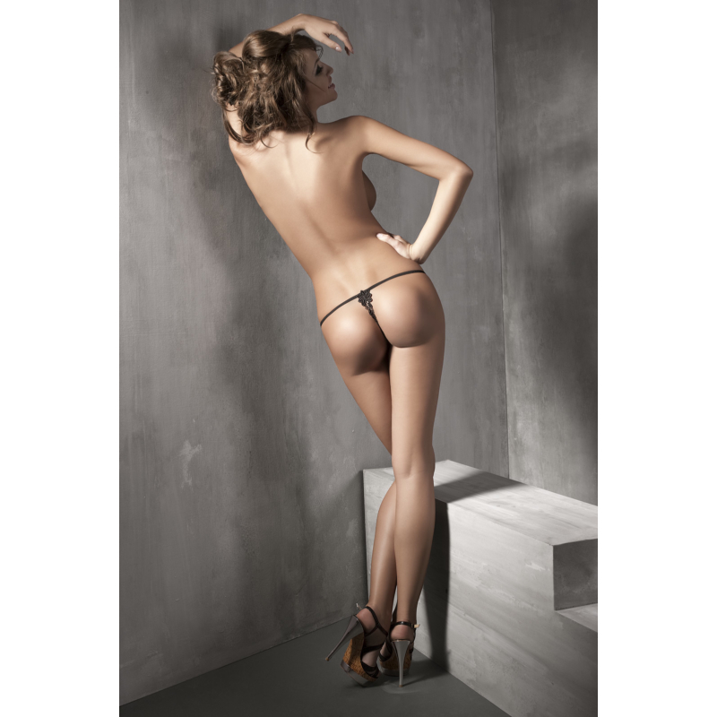 ANAIS Lazy Girl black string XL EAN: 5908261618178