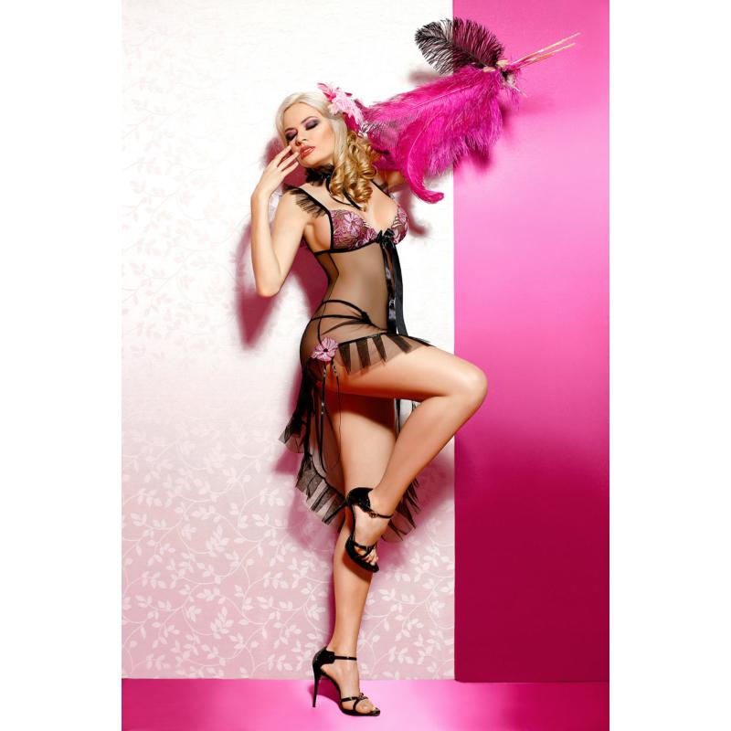 Anais Paloma chemise black lilac L EAN: 5908261613753