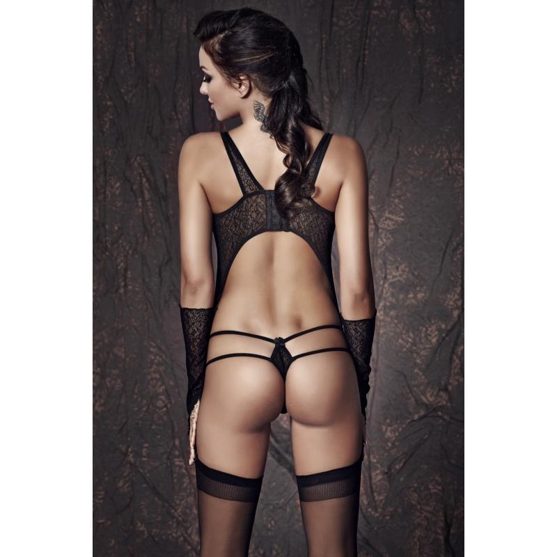 Anais Tiffiny black set / body és kesztyű / S EAN: 5901350515518