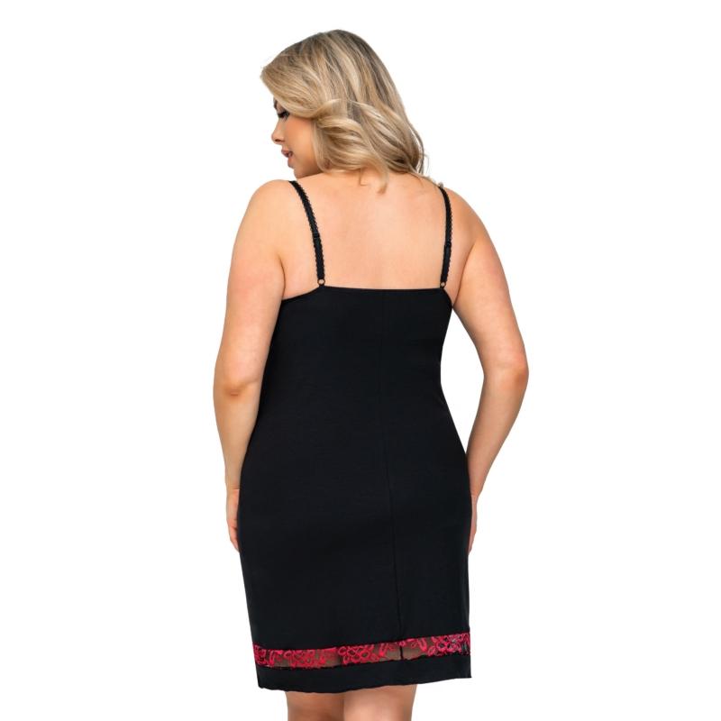 Donna hálóruházat - Alexia Plus fekete hálóing 46    A/W21-22