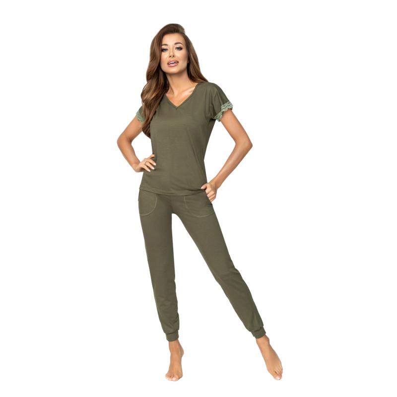 Donna hálóruházat - Demi khaki hosszú pizsama 44    A/W21-22