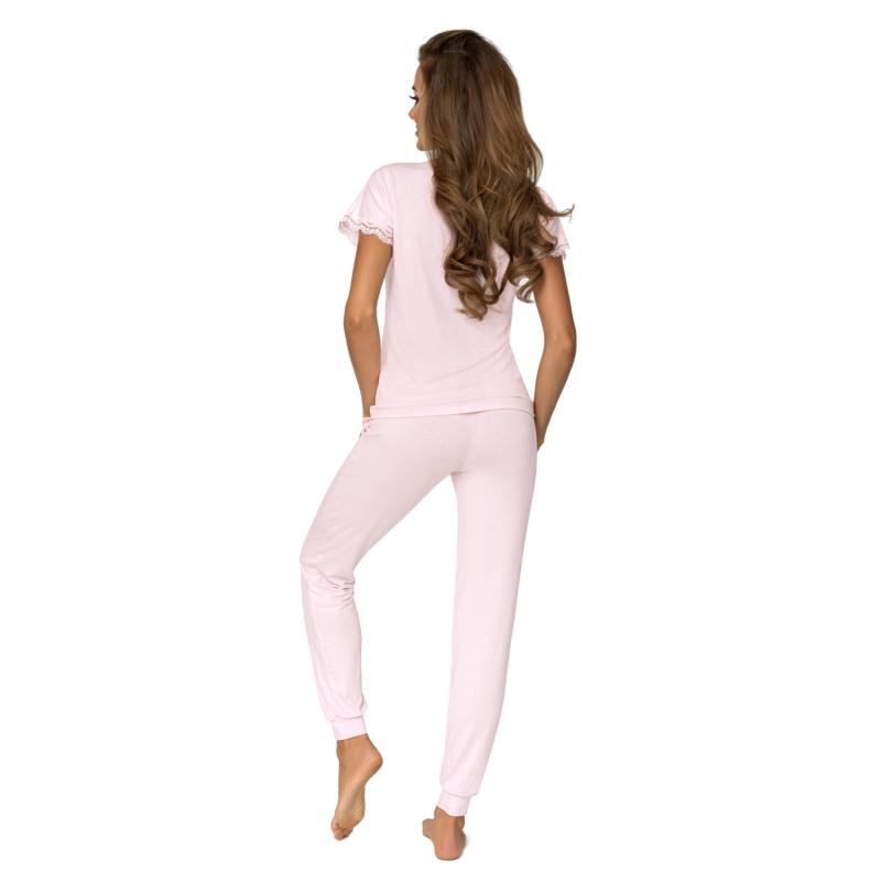 Donna hálóruházat - Demi pink hosszú pizsama 44    A/W21-22