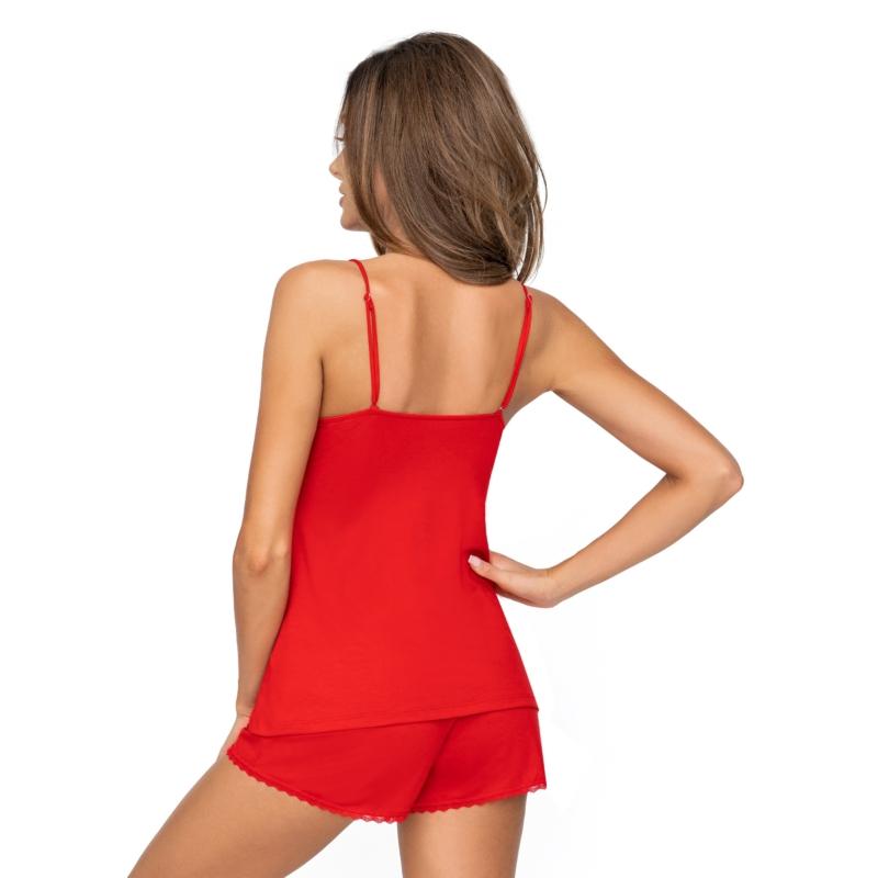 Donna hálóruházat - Kelly 1/2 piros rövid pizsama 36   A/W21-22