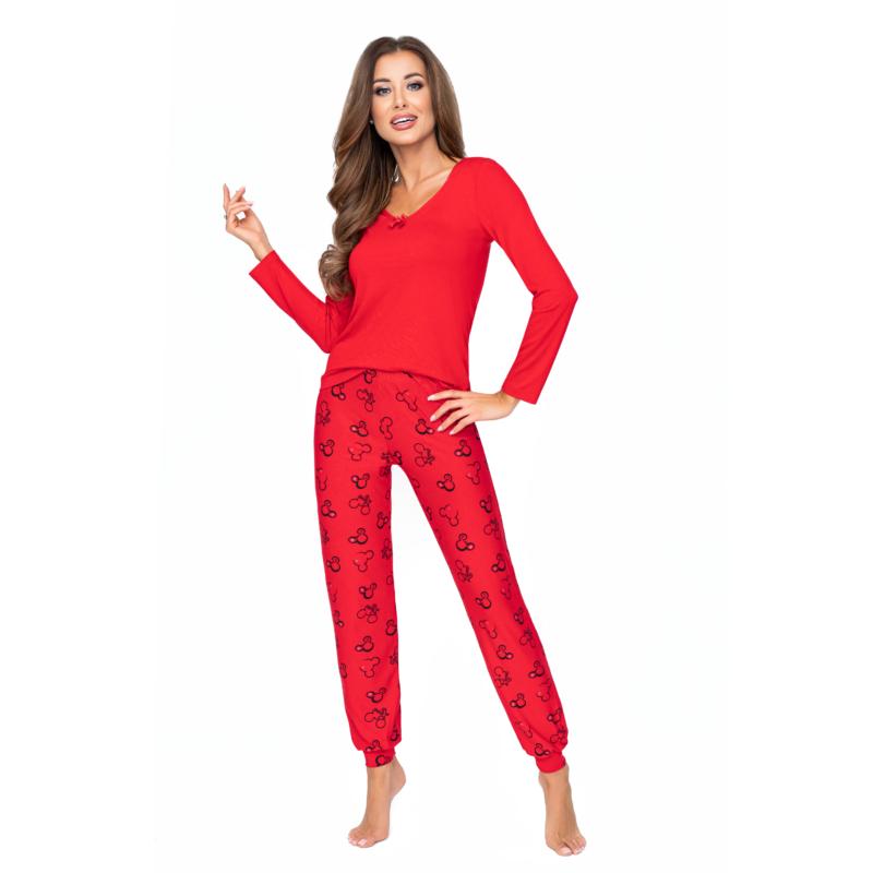 Donna hálóruházat - Mika piros hosszú pizsama 36    A/W21-22