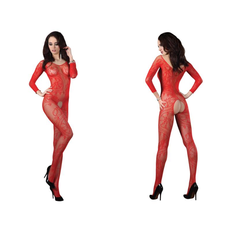 LC17086 LivCo Corsetti Abra red bodystocking S/L EAN: 5907996385348