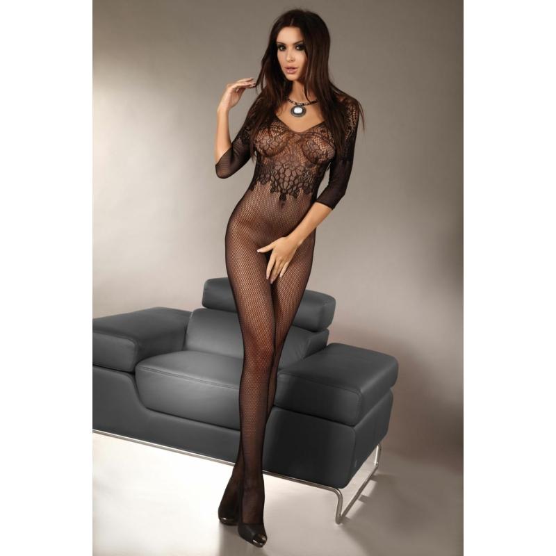 LC17117 LivCo Corsetti Josslyn black/fekete bodystocking S/L EAN: 5907699446841