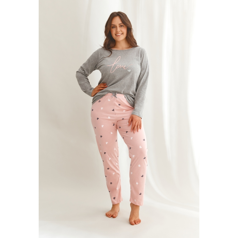 Taro 2607 CORA női hosszú pizsama 2XL    A/W21-22