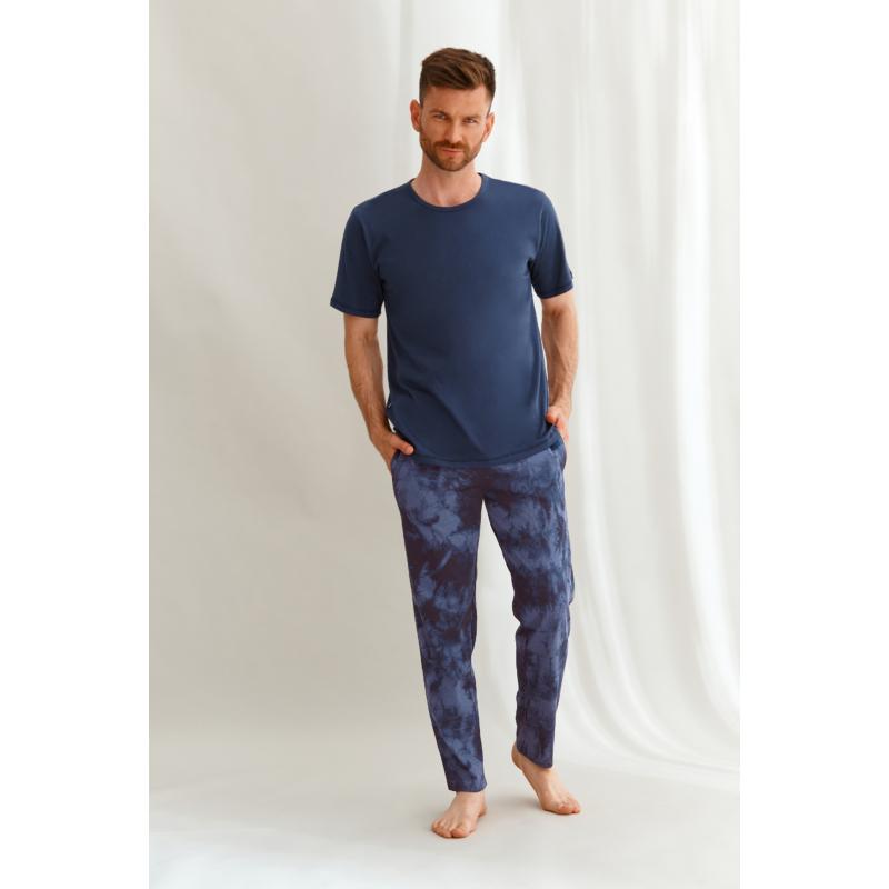Taro 2629 JACK férfi rövid ujjú, hosszú nadrágos pizsama 2XL   A/W21-22