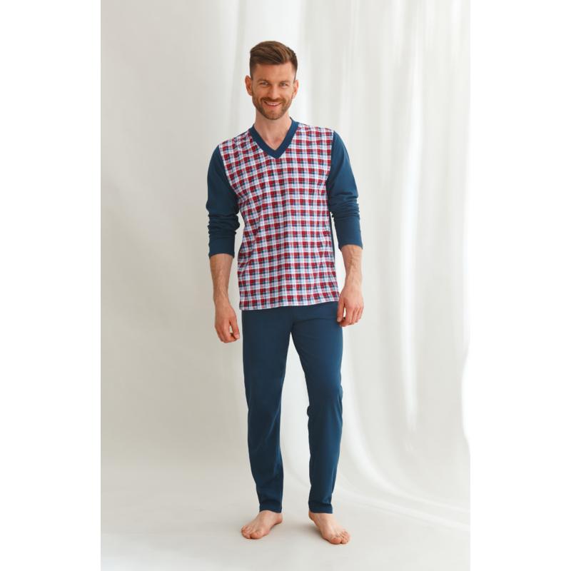 Taro 2634 VICTOR férfi hosszú pizsama 4XL   A/W21-22