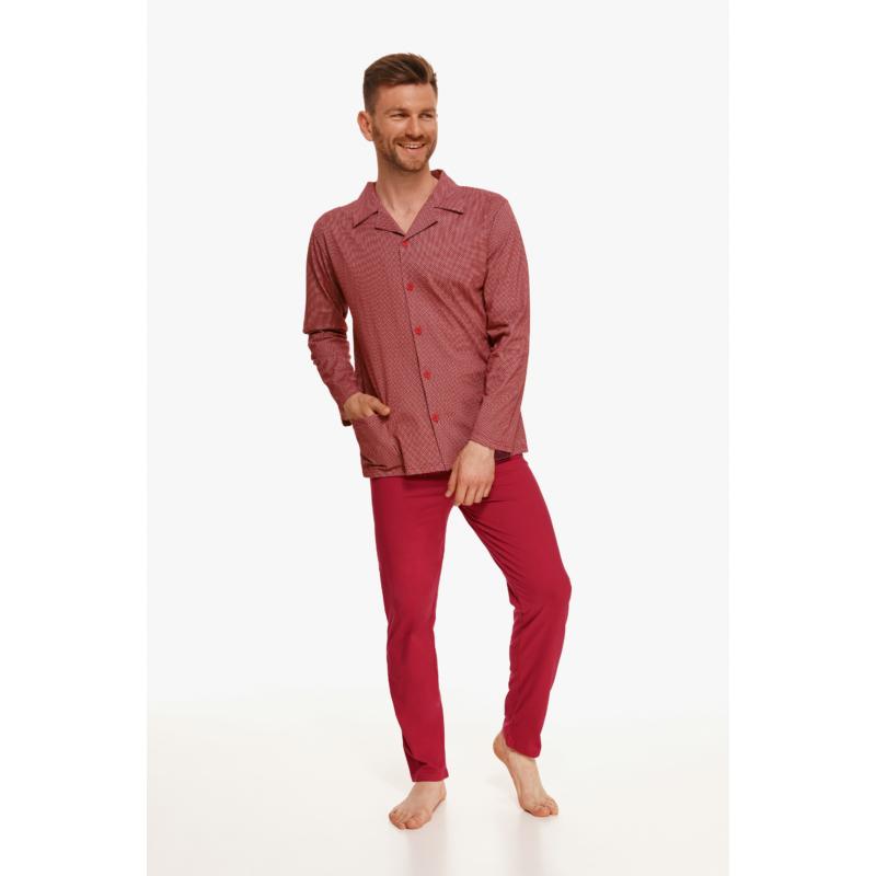 Taro 2637 RICHARD férfi hosszú pizsama 4XL    A/W21-22