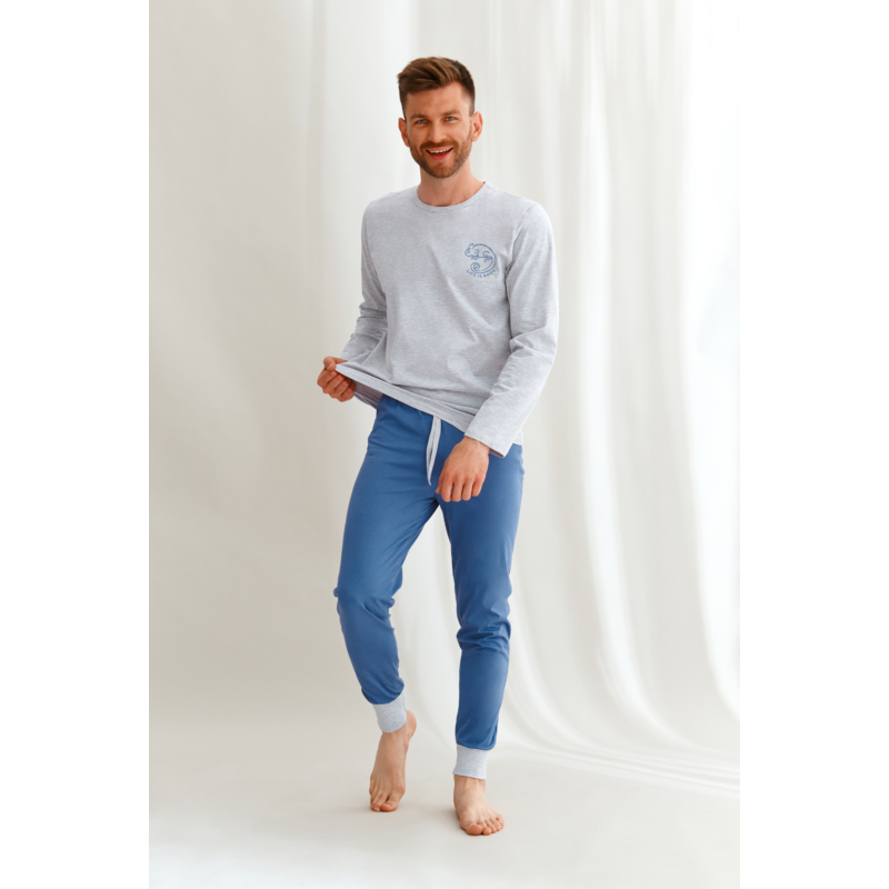 Taro 2642 JACOB hosszú férfi pizsama 2XL    A/W21-22