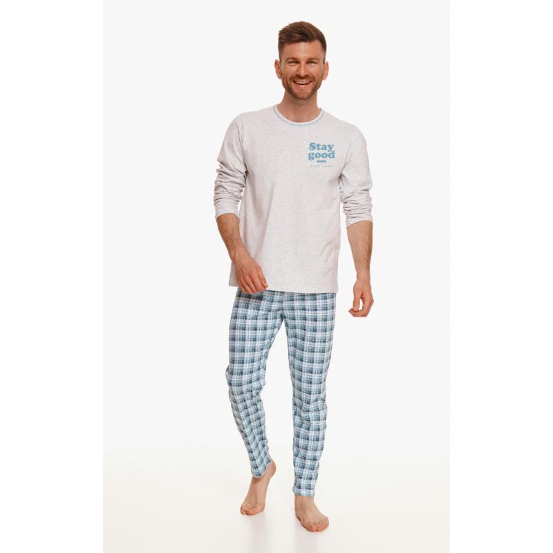 Taro 2656 MARIO férfi hosszú pizsama 2XL    A/W21-22
