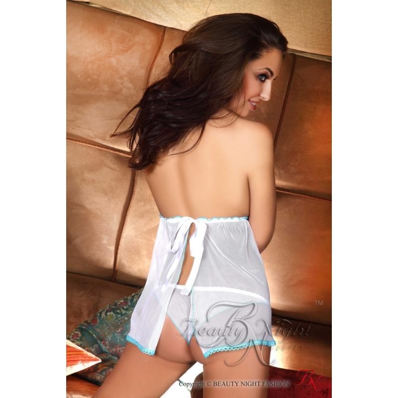 BN6253L/XL Beauty Night Nadine white-blue set L/XL